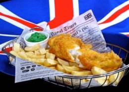 Fish Chips and Mushy Peas